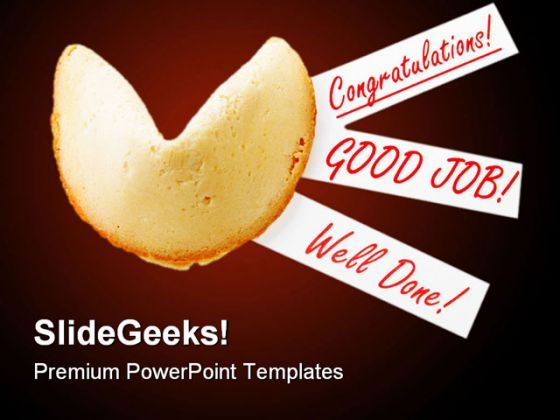 Congratulation Cookies Business PowerPoint Backgrounds And Templates 1210  Presentation Themes and Graphics Slide01