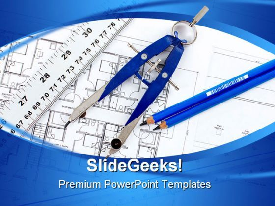 Construction Drawing Architecture PowerPoint Templates And PowerPoint Backgrounds 0611  Presentation Themes and Graphics Slide01