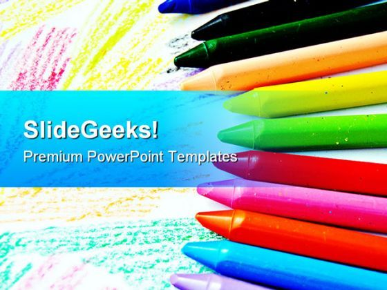 Crayons Art Education PowerPoint Templates And PowerPoint Backgrounds 0611  Presentation Themes and Graphics Slide01