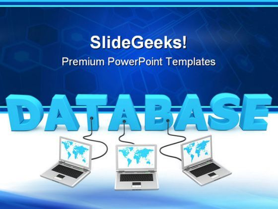 Database Networking Computer PowerPoint Templates And PowerPoint Backgrounds 0111  Presentation Themes and Graphics Slide01