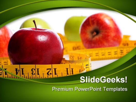 Dieting Concept Health PowerPoint Templates And PowerPoint Backgrounds 0411  Presentation Themes and Graphics Slide01
