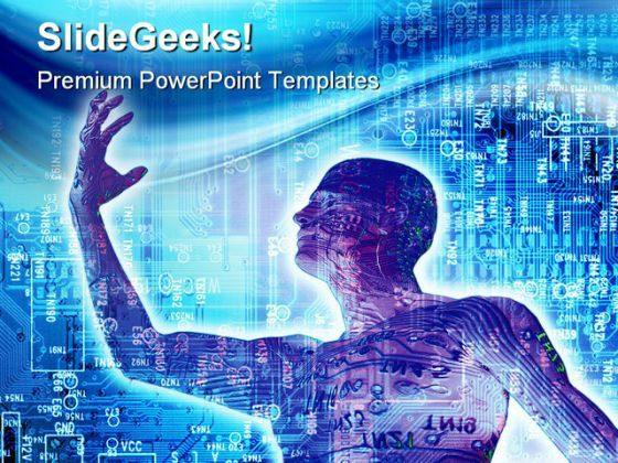 Digitalized People Technology PowerPoint Backgrounds And Templates 1210  Presentation Themes and Graphics Slide01