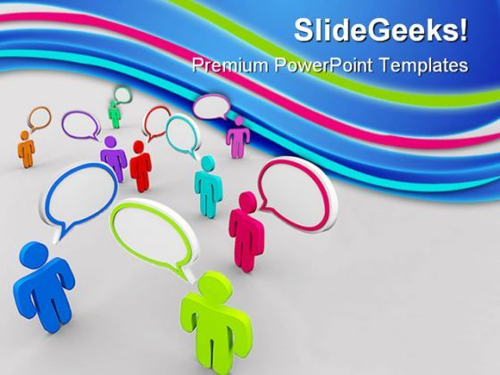 Disorganized Communication PowerPoint Backgrounds And Templates 1210  Presentation Themes and Graphics Slide01