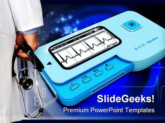 Doctor And Ecg Medical PowerPoint Background And Template 1210  Presentation Themes and Graphics Slide01