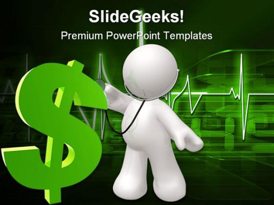 Doctor Checking Dollar Health PowerPoint Backgrounds And Templates 1210  Presentation Themes and Graphics Slide01