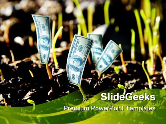Dollar Plant Money PowerPoint Backgrounds And Templates 1210  Presentation Themes and Graphics Slide01