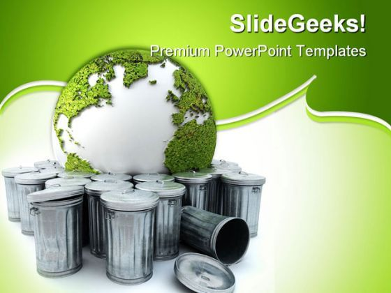 Earth In The Garba Globe PowerPoint Templates And PowerPoint Backgrounds 0211  Presentation Themes and Graphics Slide01