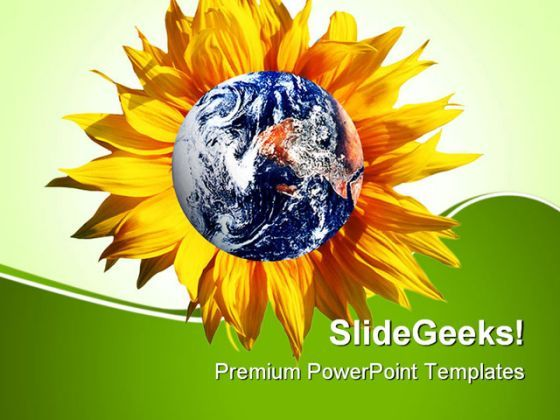 Earth With Flower Nature PowerPoint Templates And PowerPoint Backgrounds 0511  Presentation Themes and Graphics Slide01