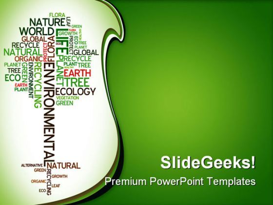 Ecology Environmental Nature PowerPoint Backgrounds And Templates 1210  Presentation Themes and Graphics Slide01