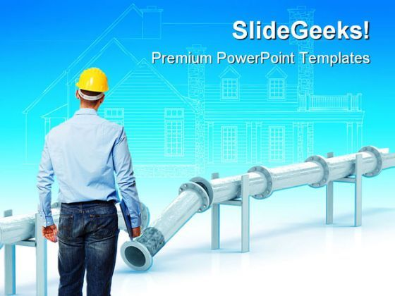 Engineer At Work Construction PowerPoint Templates And PowerPoint Backgrounds 0411  Presentation Themes and Graphics Slide01