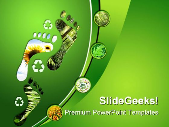 Environmental Footprints Nature PowerPoint Templates And PowerPoint Backgrounds 0211  Presentation Themes and Graphics Slide01