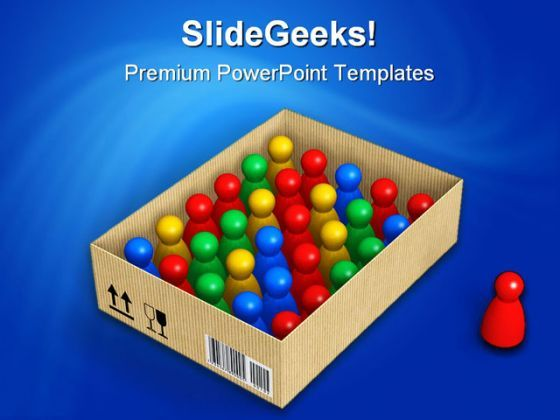 Figures In Box Standout Shapes PowerPoint Backgrounds And Templates 1210  Presentation Themes and Graphics Slide01