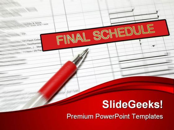 Final Schedule Business PowerPoint Background And Template 1210  Presentation Themes and Graphics Slide01