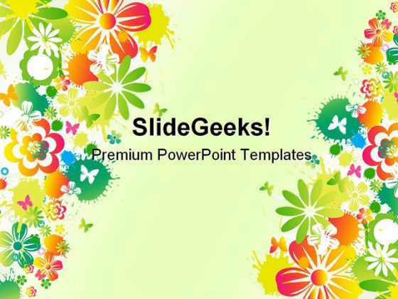 Floral Background Design Powerpoint Templates And Powerpoint Backgrounds 0411 Powerpoint Presentation Pictures Ppt Slide Template Ppt Examples Professional