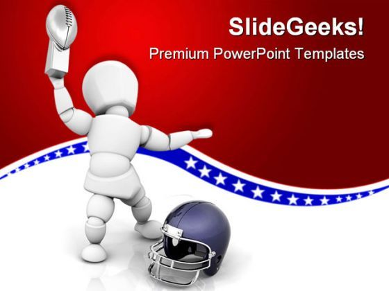 Foot Ball Champion Sports PowerPoint Templates And PowerPoint Backgrounds 0411  Presentation Themes and Graphics Slide01