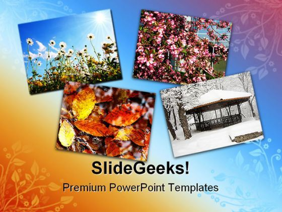 Four Seasons Nature PowerPoint Templates And PowerPoint Backgrounds 0711  Presentation Themes and Graphics Slide01