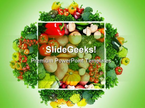 Fruits And Vegetables Health PowerPoint Templates And PowerPoint Backgrounds 0511  Presentation Themes and Graphics Slide01