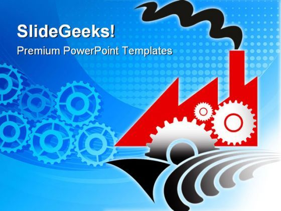 Gears Of Factory Industrial PowerPoint Templates And PowerPoint Backgrounds 0311  Presentation Themes and Graphics Slide01