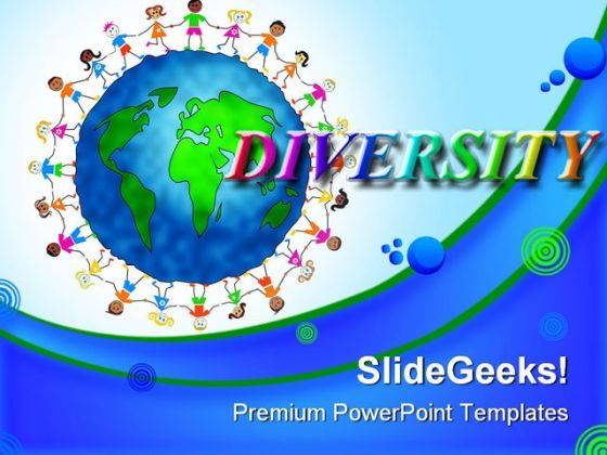 Global Kids Diversity Children PowerPoint Templates And PowerPoint Backgrounds 0311  Presentation Themes and Graphics Slide01
