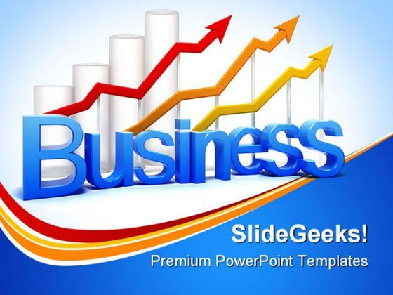 Graph And Arrows Business PowerPoint Background And Template 1210  Presentation Themes and Graphics Slide01