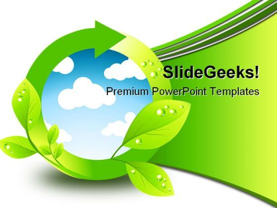 Green Environment Element Nature PowerPoint Background And Template 1210  Presentation Themes and Graphics Slide01