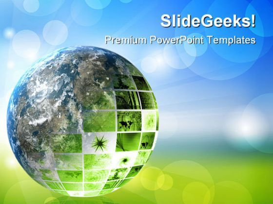 Green Futuristic Technology Geographical PowerPoint Templates And PowerPoint Backgrounds 0311  Presentation Themes and Graphics Slide01
