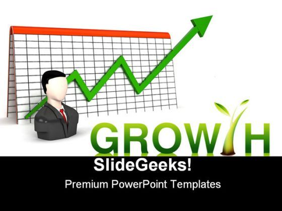 Growth Business PowerPoint Backgrounds And Templates 1210  Presentation Themes and Graphics Slide01