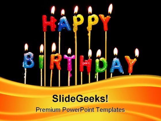 Happy Birthday Candles Events PowerPoint Templates And PowerPoint Backgrounds 0311  Presentation Themes and Graphics Slide01