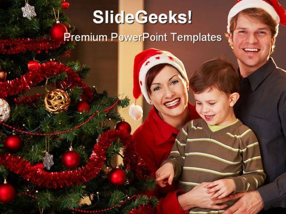 Happy Christmas Family PowerPoint Backgrounds And Templates 1210  Presentation Themes and Graphics Slide01