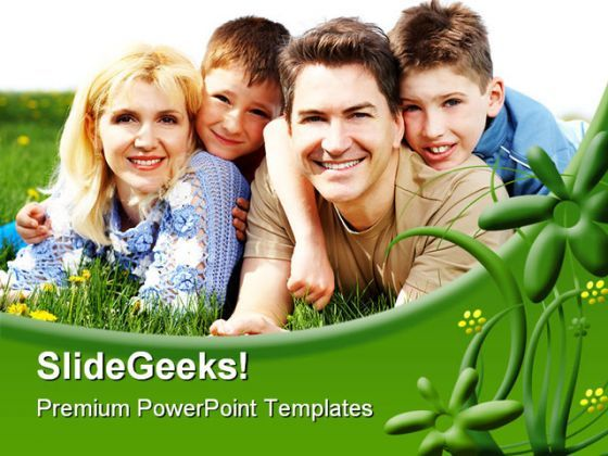 Happy Family People PowerPoint Background And Template 1210  Presentation Themes and Graphics Slide01