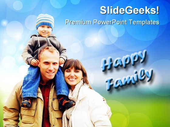 Happy Family People PowerPoint Templates And PowerPoint Backgrounds 0411  Presentation Themes and Graphics Slide01