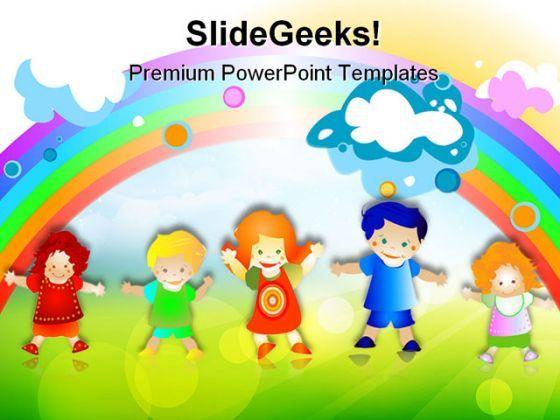 happy kids children powerpoint templates and powerpoint