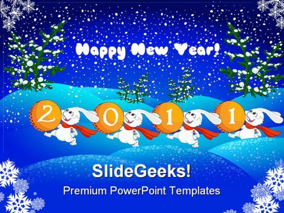 Happy New Year Abstract 2011 Festival PowerPoint Backgrounds And Templates 1210  Presentation Themes and Graphics Slide01