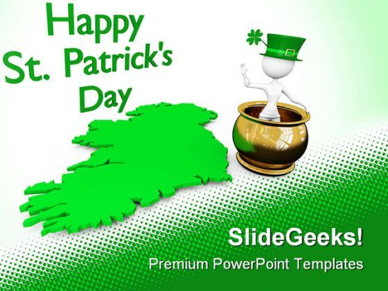Happy St Patrick Day Events PowerPoint Templates And PowerPoint Backgrounds 0411  Presentation Themes and Graphics Slide01