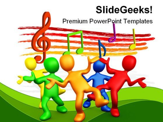 Having Fun Music PowerPoint Backgrounds And Templates 1210  Presentation Themes and Graphics Slide01