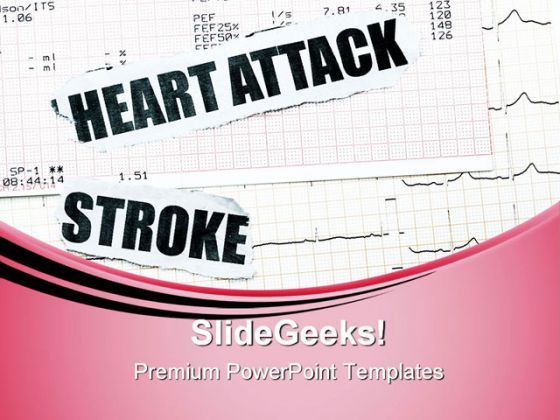 Heart Attack And Stroke Medical PowerPoint Templates And PowerPoint Backgrounds 0611  Presentation Themes and Graphics Slide01