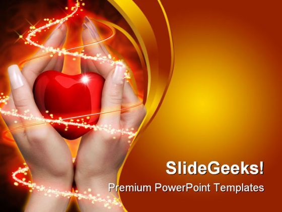 Heart In Hand Medical PowerPoint Backgrounds And Templates 1210  Presentation Themes and Graphics Slide01