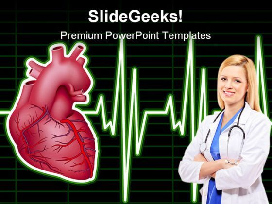 Heart Monitor Medical PowerPoint Backgrounds And Templates 1210  Presentation Themes and Graphics Slide01