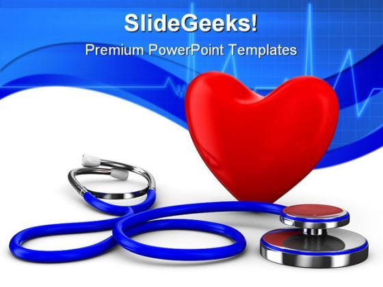 Heart Stethoscope Medical PowerPoint Templates And PowerPoint Backgrounds 0211  Presentation Themes and Graphics Slide01