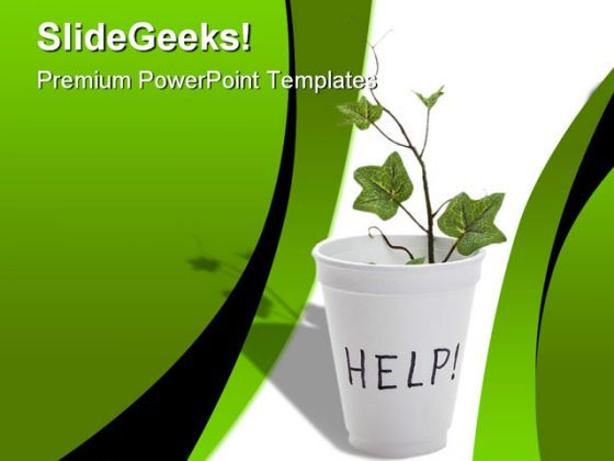 Help Environment PowerPoint Backgrounds And Templates 1210  Presentation Themes and Graphics Slide01