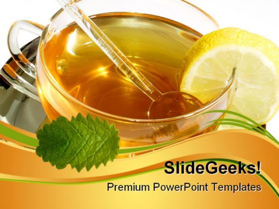 Herbal Tea Food PowerPoint Templates And PowerPoint Backgrounds 0511  Presentation Themes and Graphics Slide01