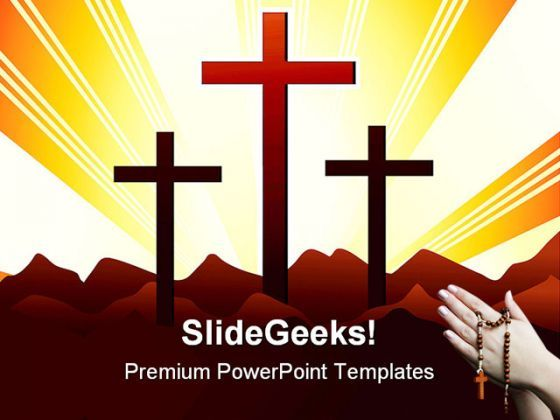 Holly Cross Religion PowerPoint Templates And PowerPoint Backgrounds 0511  Presentation Themes and Graphics Slide01