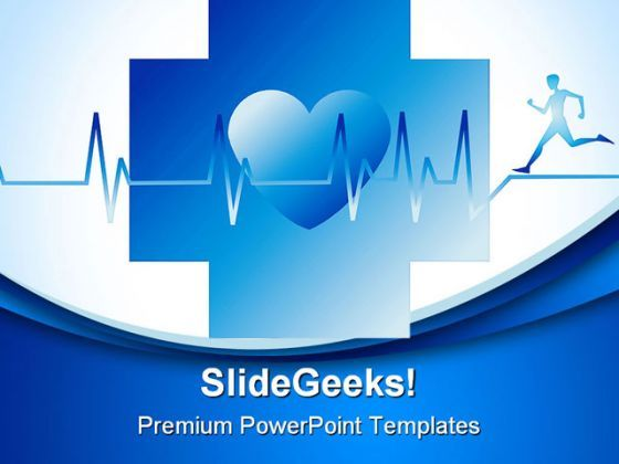 Human Running Medical PowerPoint Templates And PowerPoint Backgrounds 0311  Presentation Themes and Graphics Slide01
