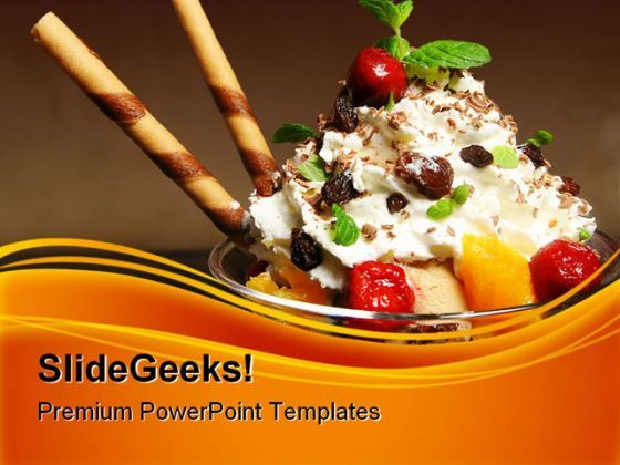 Ice Cream Food PowerPoint Templates And PowerPoint Backgrounds 0311  Presentation Themes and Graphics Slide01
