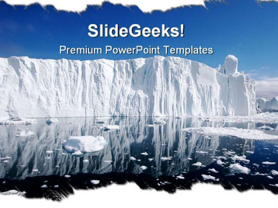Iceberg Nature PowerPoint Backgrounds And Templates 1210  Presentation Themes and Graphics Slide01