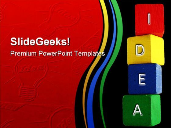 Idea Blocks Business PowerPoint Backgrounds And Templates 1210  Presentation Themes and Graphics Slide01