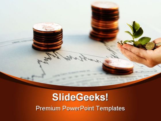 Investment Business PowerPoint Backgrounds And Templates 1210  Presentation Themes and Graphics Slide01