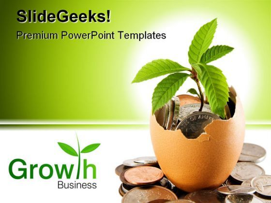 Investment Growth Money PowerPoint Backgrounds And Templates 1210  Presentation Themes and Graphics Slide01