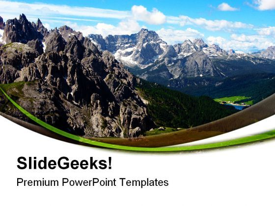 Italian Mountain Nature PowerPoint Templates And PowerPoint Backgrounds 0611  Presentation Themes and Graphics Slide01