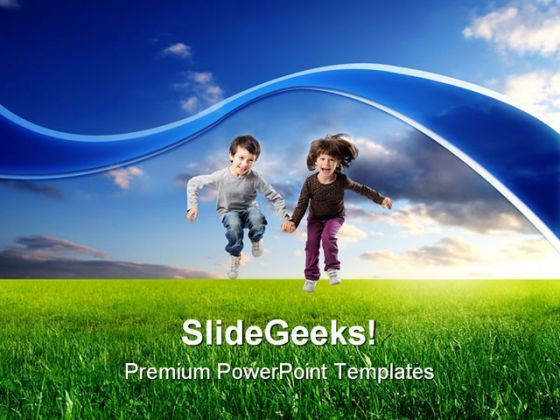 Jump Children PowerPoint Templates And PowerPoint Backgrounds 0211  Presentation Themes and Graphics Slide01